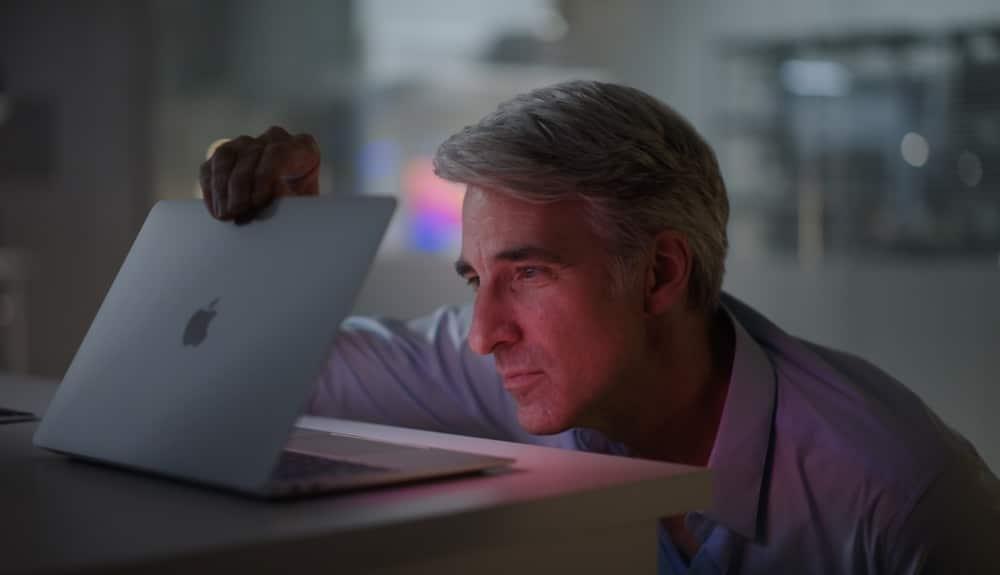 Craig Federighi MacBook Air